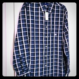 Simply Stated - blue plaid XL